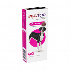 Бравекто Жувальна таблетка для захисту собак від кліщів і бліх 40 -56 кг1