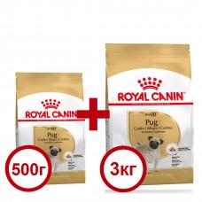 Royal Canin Pug 3кг+0,5кг корм для мопсов1