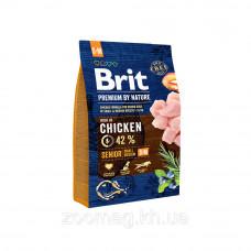 Brit Premium Senior S + M 3кг- для старіючих собак дрібних і середніх порід1