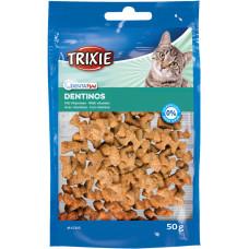 Trixie TX-4266 Denta Fun 50г-лакомство для кота с специальной формой для чистки зубов и межзубных пространств1