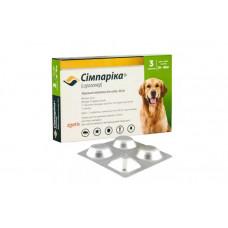 Simparica (Сімпаріка) Таблетки від бліх і кліщів для собак вагою від 20 до 40 кг1