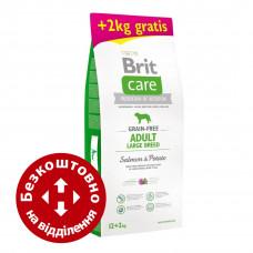 Brit Care Grain-free Adult Large Breed Salmon&Potato 12+2кг- корм з лососем для собак великих порід1