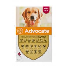 Advocate капли для собак весом от 10 до 25 кг,1 пипетка(Bayer)1