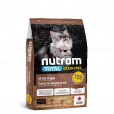 T22 Nutram Total Grain-Free® Turkey 1,8кг-беззерновой корм для кошек с курицей и индейкой1