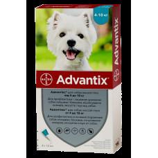 Bayer Advantix для собак вес 4-10 кг 1пипетка 1мл1