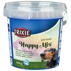Trixie TX-31495 Happy Mix 500гр смесь лакомств для собак (ягнёнок, лосось, курица)1