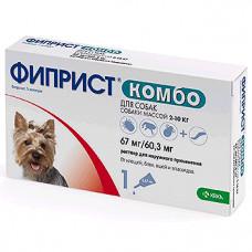 Фиприст комбо для собак 2-10кг 1 пипетка1