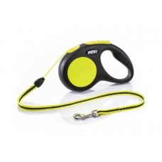 Flexi Neon M (5м,до 20кг,трос) рулетка - поводок для собак1