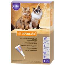 Bayer Advocate капли для кошек от 4 кг до 8 кг (1 пипетка )1