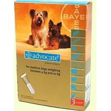 Advocate (Адвокат) капли для собак весом от 4 до 10кг,1 пипетка (Bayer)1