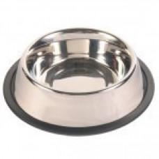 Trixie TX-24851 миска для собак металлическая на резине 0,45 l/ø 14 cм1