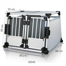 Trixie TX-39345 Клетка для перевозки собак в машине, алюминий, 95х69х88 см Трикси.1