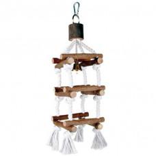 Trixie TX-5886 лесенка для птиц с колокольчиком (дерево) 34 cм1
