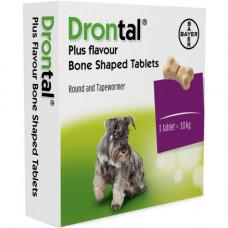 Дронтал плюс(Drontal plus) со вкусом мяса, для собак, 6 таблетки ( Bayer )1