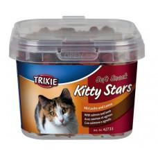 Trixie TX-42733 Soft Snack Kitty Stars 140г- мягкие звездочки для кошек с лососем и ягненком1