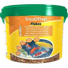Tetra Pond Flakes 10 L смесь хлопьев для мелких рыб 10л (172012)1