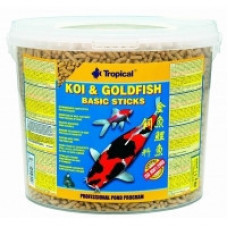 Tropical KOI&GoldFish Basic Sticks 21л-корм для прудовых рыб1
