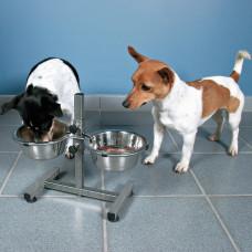 Trixie TX-24920 Барная стойка с мисками по 0,75л для собак мелких пород (высота 27см)1