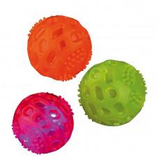 Trixie TX-33642 мяч мигающий 6см (термопластичный каучук)1