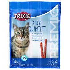 Trixie TX-42725 Premio Stick Quintett 5шт - палочки лосось-форель для кошек1