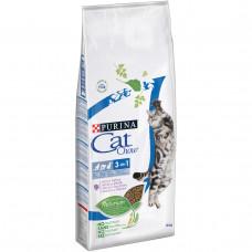 Cat Chow Feline 3 в 1 15кг-корм для кошек с индейкой1