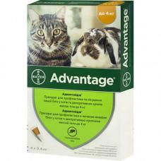 Bayer Advantage 40 капли для кошек до 4кг и хорьков (1 пипетка )1