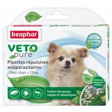 Beaphar BIO Spot on 3 піпеткі- натуральні протипаразитарні краплі для собак вагою до 15 кг (15612)1