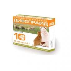 Дивопрайд Свечи для собак и кошек ректальные (10 шт * 2,1г)1